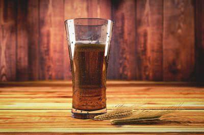 ビールと原料の大麦