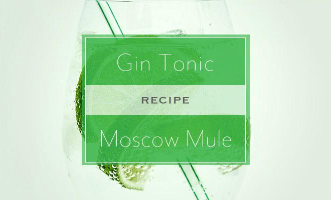 ジントニックとモスコミュールのレシピ