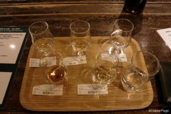 白州の原酒も含めたラインナップ