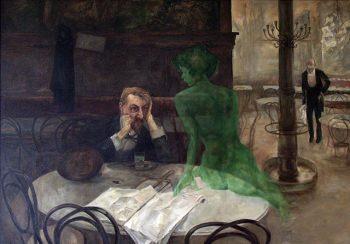 「アブサンを飲む男」ヴィクトル・オリヴァ作