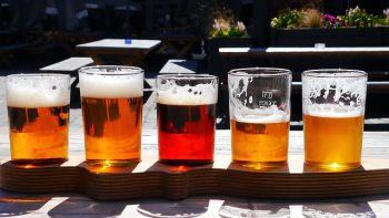 IPAと思われるビールが並んでいる