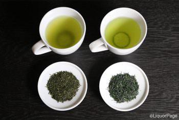 左が煎茶、右が玉露