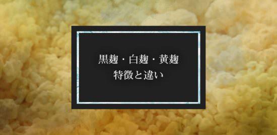 黒麹・白麹・黄麹、特徴と違い