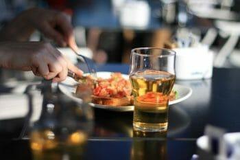 飲酒と食事