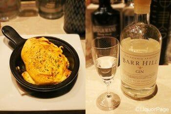 左から、チーズオムレツ [900円]、バーヒル・ジン [1300円]