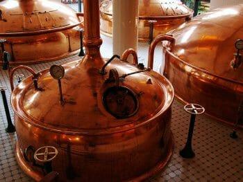 ビール造りでは大量の水が使用される。