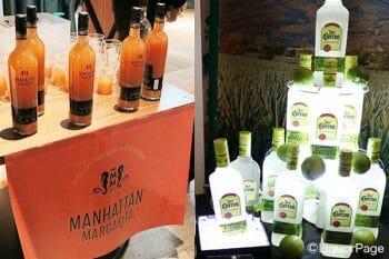 マルガリータの完成品をボトルに詰め販売されているものもある。(左・マンハッタンマルガリータ、右、クエルボマルガリータ)