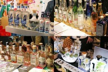 テキーラは今まさにHOTなお酒。イベント会場では様々なテキーラが用意されていた。