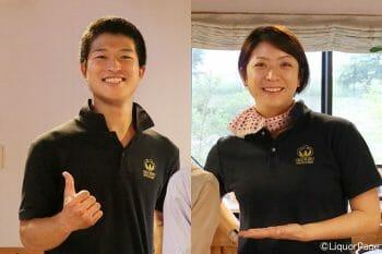 秩父蒸溜所の吉川さん(右)と奥山さん(左)