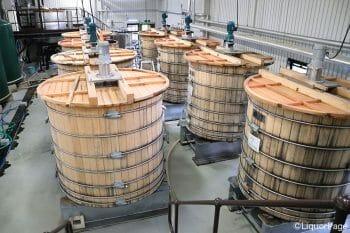ミズナラ材の発酵槽