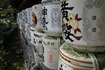 松尾大社に奉納された酒樽