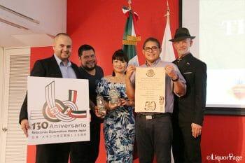 右から、フィル・ベイリー氏、フリオ・ベルメホ氏、主催であるJUASTのプロデューサー目時裕美氏、オスカル・マルティネス氏、メキシコ大使館商務部アーロン・ベラ参事官