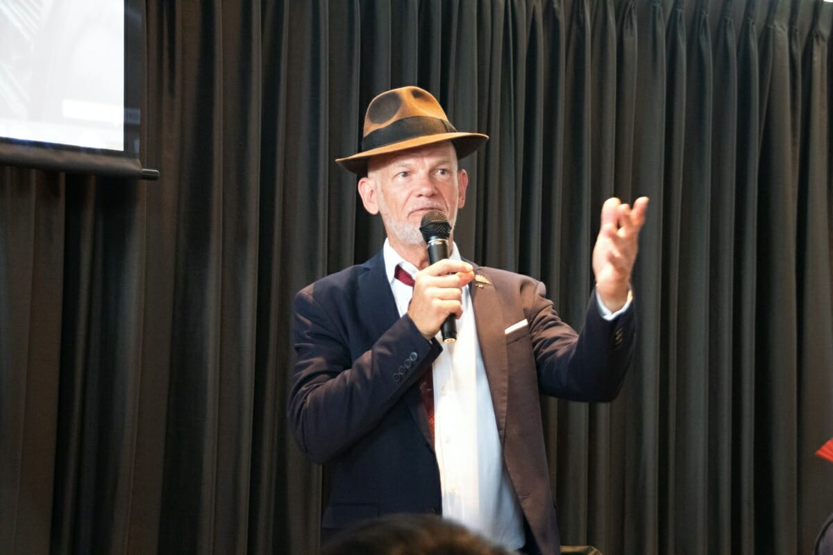 ゲストの一人であるフィル・ベイリーさん、昨年に続き2度目の参加