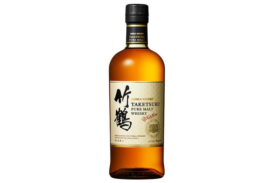 新しい「竹鶴ピュアモルト」のボトル