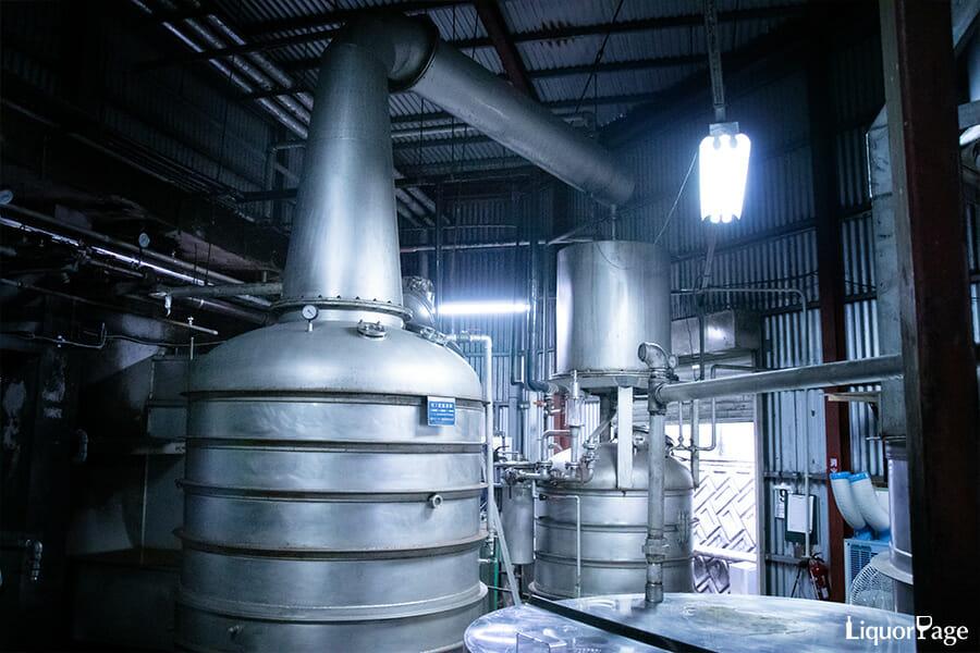 ORI-GiNの蒸溜に使用される蒸溜器