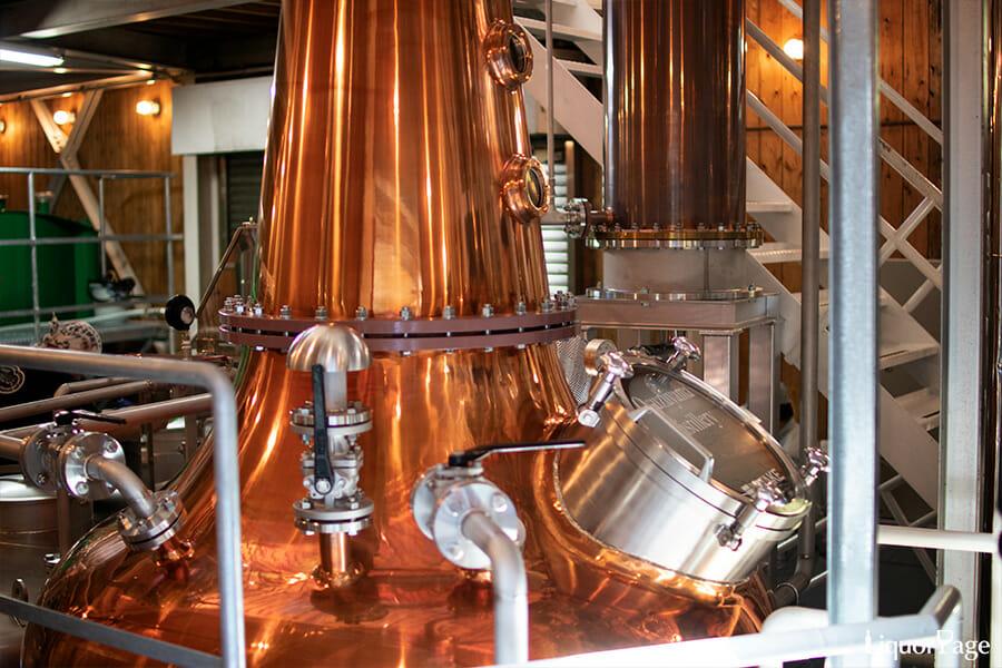 尾鈴山蒸留所のウイスキー用の蒸溜器