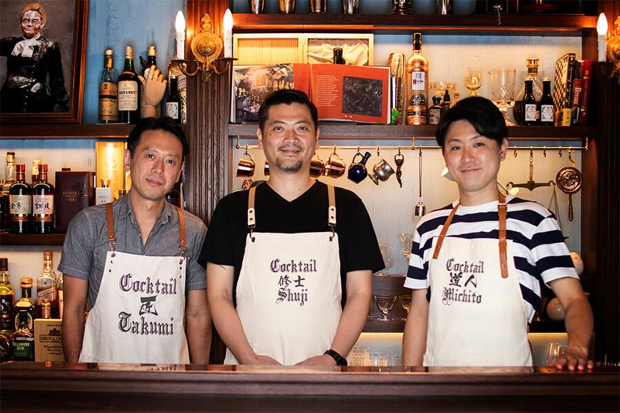 C&Eの3人、左から渡邉匠さん、山本修士さん、金子道人さん