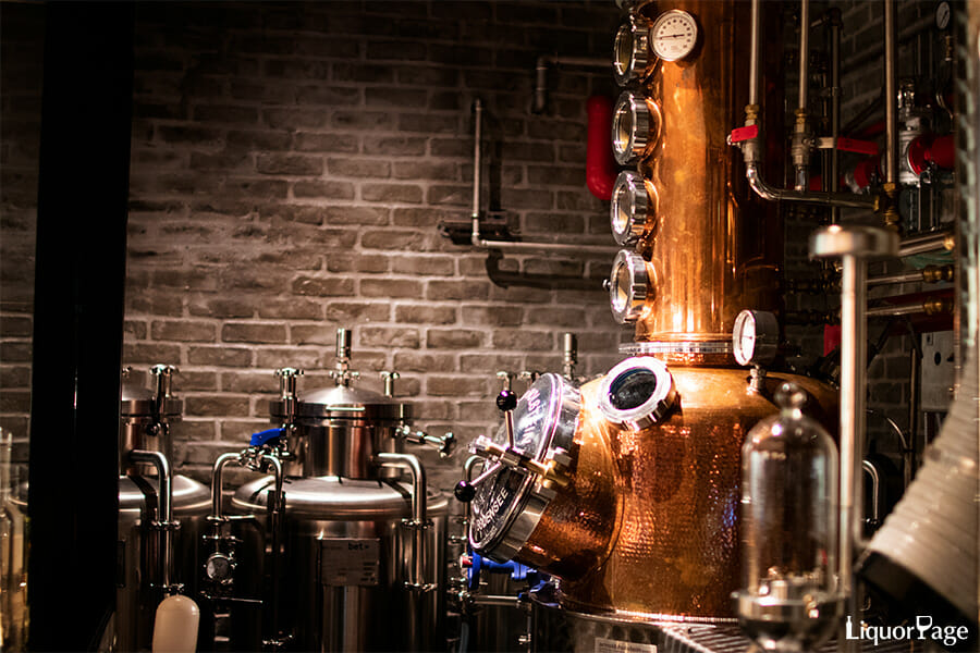 NUMBER EIGHT DISTILLERYにあるホルスタイン社の蒸溜器