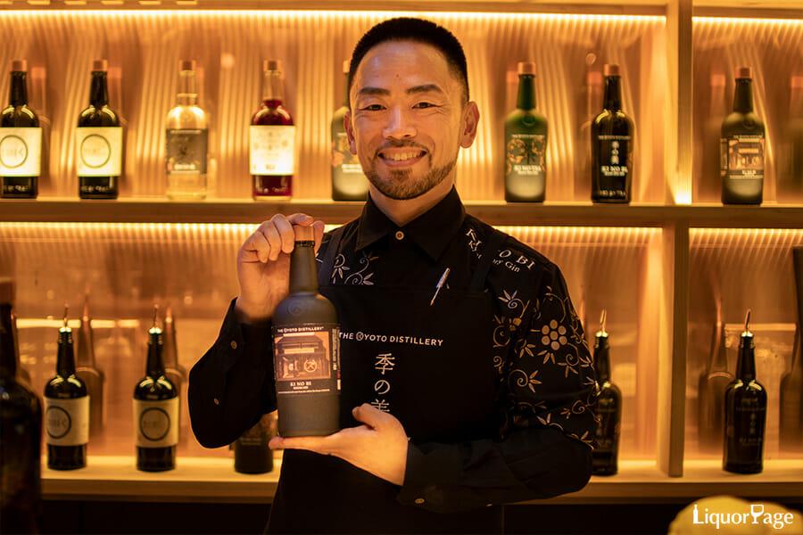 案内いただいた佐久間雅志さん(通称マーシーさん)は、元々京都蒸溜所で季の美の蒸溜を手掛けていた