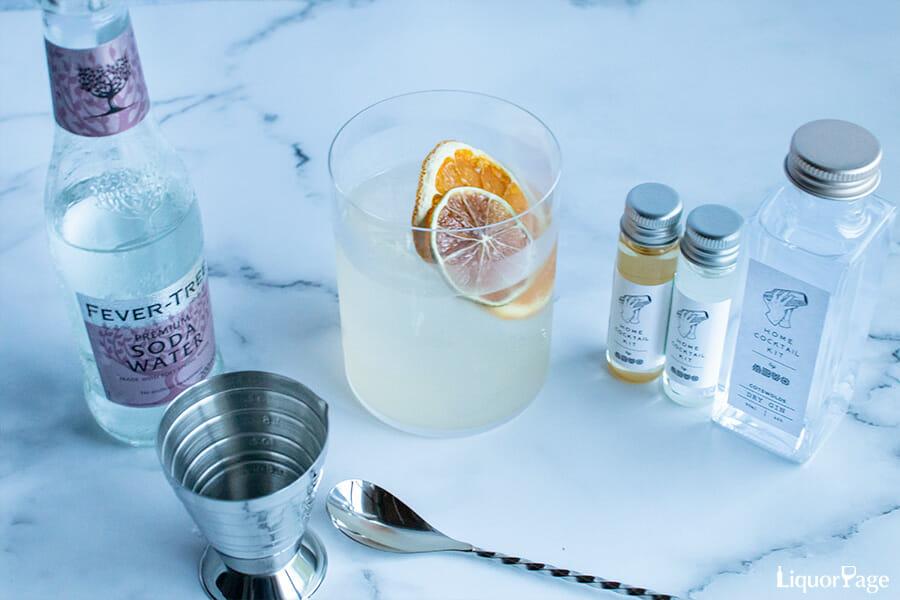 オリジナルカクテル「エルダーフラワーコリンズ」は、柑橘の香りとエルダーフラワーのフルーティーな風味が絶妙にマッチしたカクテル、バランスも素晴らしく、ずっと香りを楽しんでいられる