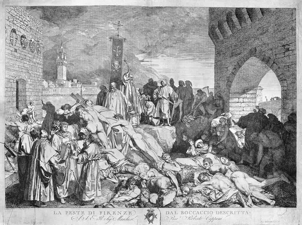 ペストに苦しむイタリア・フィレンツェの市民