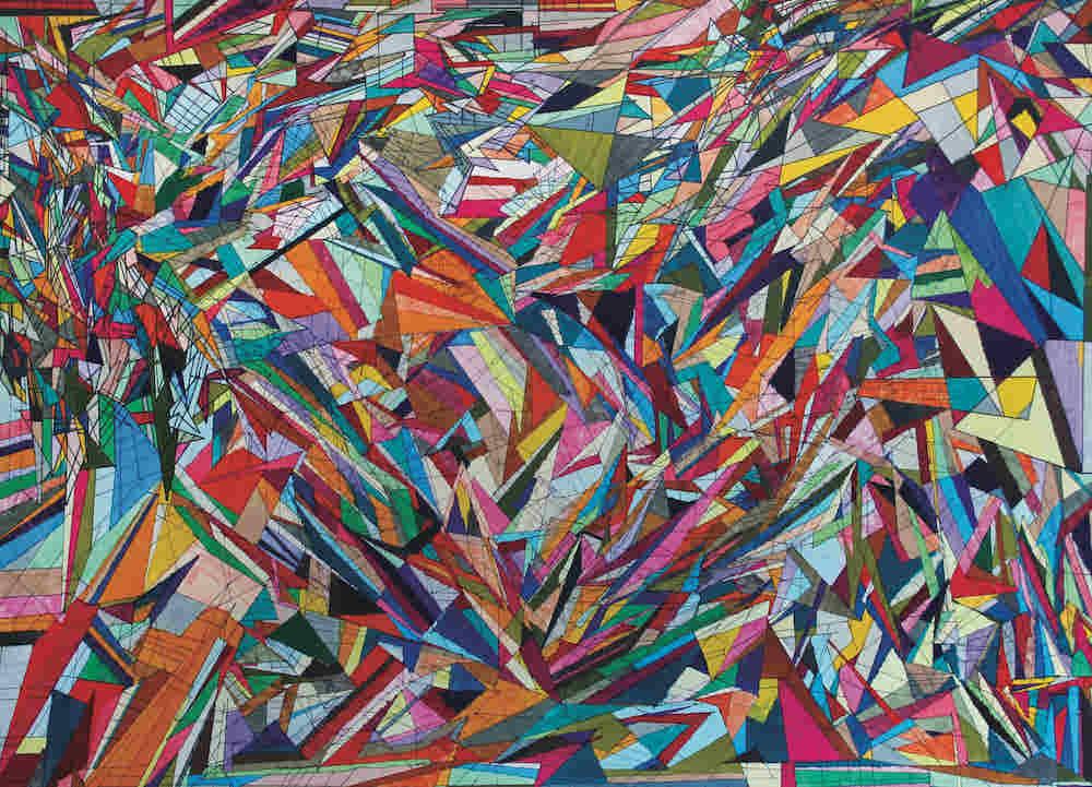 八重樫道代さんの作品「おりがみ(るんびにい美術館)」