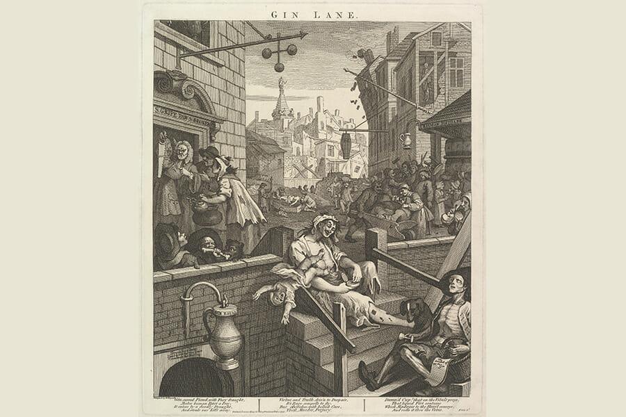 ジンクレイズを表した絵画「GIN LANE」