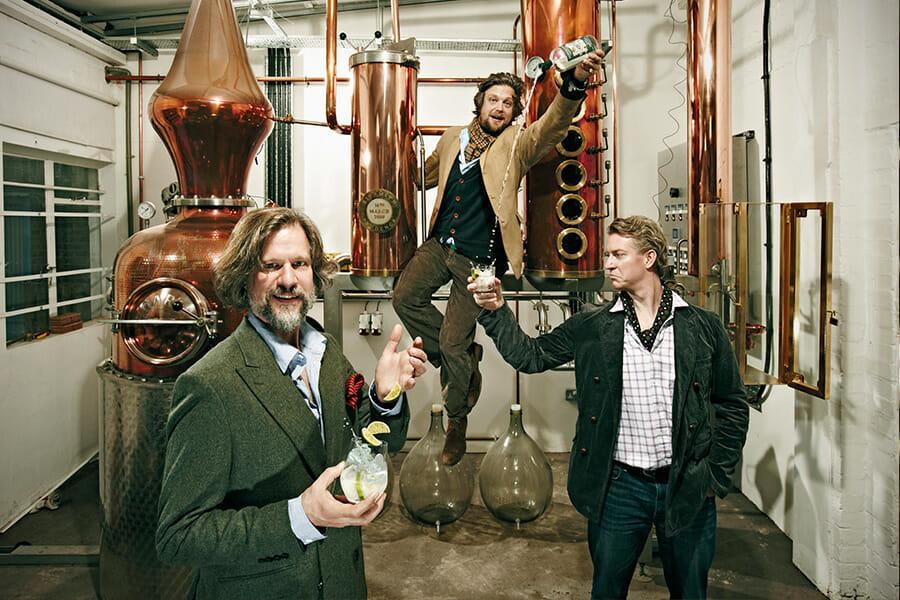 シップスミス創業者の3人、左からジャレッド、サム、フェアファックス
