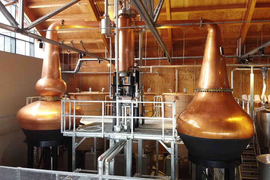 ウイスキー用のフォーサイズ社製蒸溜器